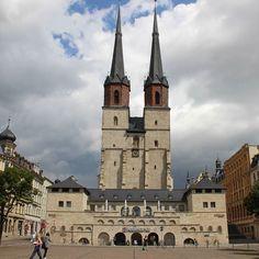 Blick zur Marktkirche #halle #hallesaale #ilovehalle