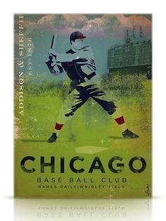 Chicago Base Ball Club vintage style original by geministudio