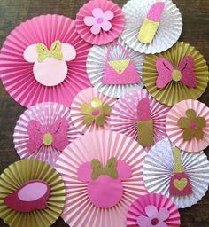 decoracion economica fiesta minnie rosa - Buscar con Google