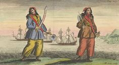 Women played many roles in and century piracy. A few like Anne Bonny and Mary Read even served aboard a ship as pirates themselves! Pirate Woman, Pirate Life, Anne Bonny, Calico Jack, Famous Pirates, Golden Age Of Piracy, Pirate Boats, Sea Illustration, Black Sails