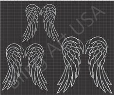 Rhinestone Design Patterns | rhinestone-wings-download-file-template-pattern-art-bling-svg-eps-plt ...
