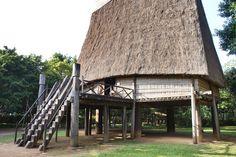 Maison commune des Bahnar : La plus impressionnante du musée ethnographique d'Hanoi. Hanoi, Vietnam, Cabin, House Styles, Home, Impressionism, Cards, Travel, Cabins