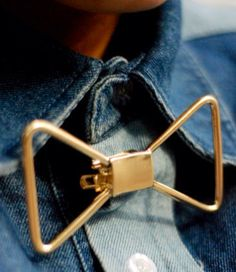 Metal-Gold Bow Tie