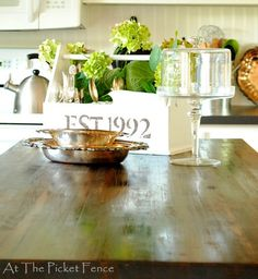 DIY Ikea butcher block counter~island makeover