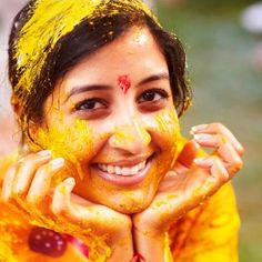A day before the wedding, the bride and the groom arrange for a Haldi ceremony at home. It's believed that Haldi adds to the beauty of the bride on the day of wedding.