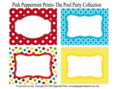 free printable princess peach mario party banner - Yahoo Image Search Results