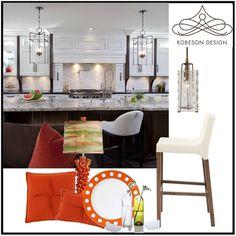 modern kitchen design by Rebecca Robeson