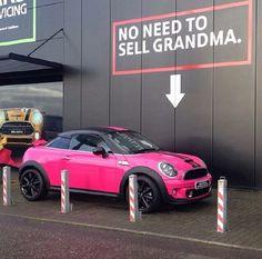 Hot Pink MINI Cooper