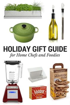 This Holiday Gift Guide provides thoughtful inspiration and handy ideas for presents to give to your friends and family members who are enthusiastic home cooks and foodies.