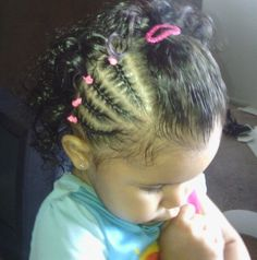 Mixed baby hair