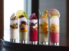 Intercontinental Hotel in Shinagawa will be serving alcohol infused versions of 'kakigori,' mid-September 2015 New Recipes, Snack Recipes, Cooking Recipes, Favorite Recipes, Desserts Rafraîchissants, Frozen Desserts, Sorbet, Granite, Colorful Drinks