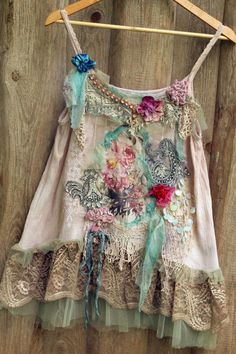 Baroque summer top size M/L whimsy bohemian top antique