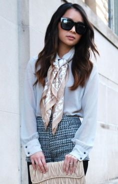 updated twist to all those silk scarves