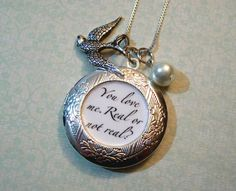 Hunger Games quote necklace...I want one!!