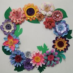 Flower Shoppe - make all the flowers and attach to a Styrofoam wreath.