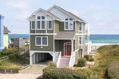SUMMER BREEZE - 163 located In SOUTHERN SHORES, SOUTHERN SHORES, NC Outer Banks Oceanside vacation rental with 4 bedrooms, 3.1 baths, Private Pool and Hottub.