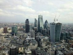 Walkie Talkie, Cheesegrater, Gherkin and the City. @MPSinthesky #London