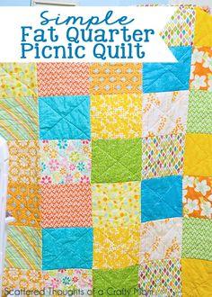 Super simple fat quarter picnic quilt.