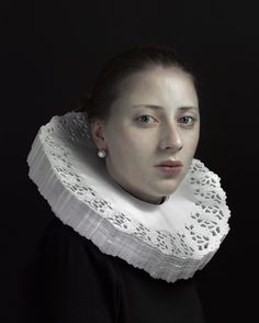 """Hendrik-Kerstens  """"Costume Party"""" Photographs by Hendrik Kerstens. 'doily' Henrik Kerstens' favorite subject to photograph is his daughter, Paula.  Her face serves as an excellent centerpiece to his original compositions and costumes."""