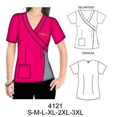 Temporada invierno 2014 Scrubs Outfit, Scrubs Uniform, Scrubs Pattern, Corporate Uniforms, Medical Uniforms, Medical Scrubs, Costume, Blouse Styles, Dress Patterns