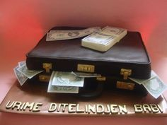 briefcase of money cake