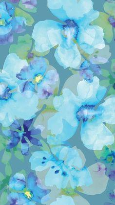 Floral Wallpaper Iphone, Blue Wallpaper Iphone, Watercolor Wallpaper, Purple Wallpaper, Blue Wallpapers, Watercolor Pattern, Pretty Wallpapers, Watercolor Flowers, Watercolor Art