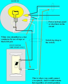 how to add a light switch to an existing outlet