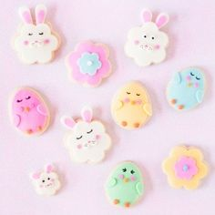 Sweet chick and bunny cookies