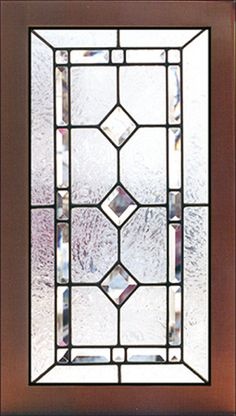 Art Glass Kitchen Cabinet Door Have Only 1 Or 2 Diamonds In The Center Since