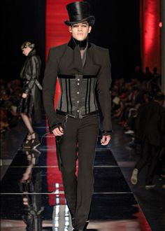 Male corset fashion by Gaultier (2012)