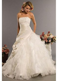 full organza gown