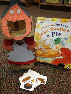There was an old lady who swallowed a pie craft/ storytime activity
