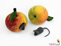 Apfelmäuschen groß (bunt) von TaFiO Land auf DaWanda.com
