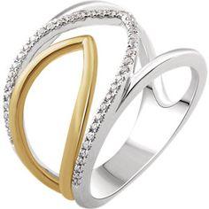 14K White & Yellow 1/6 CTW Diamond Negative Space Ring  #MyStullerStyle pg# 300