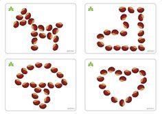 Que peut-on faire avec des marrons? Si WJL a eu la bonne idée de les percer pour que les enfants puissent faire des colliers en algorithme ...