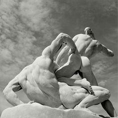 The Tuileries gardens. Theseus and the Minotaur. by Herbert List on artnet. Browse more artworks Herbert List from Magnum Photos. Herbert List, Roman Sculpture, Art Sculpture, Statue Art, Classical Art, Gay Art, Vaporwave, Ancient Art, Art History
