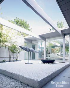 Future Architecture / Modern Courtyard, Modern, Minimalistic, Futuristic  Interior, Futuristic Home Design Inspirations