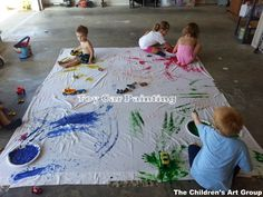The Children's Art Group: Meetup 20: Toy Car Painting