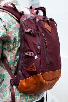 maroon bag