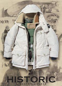 La giacca del viaggiatore si chiama NORGE 1926 ATMOSPHERIC PARKA.  #modauomo #fashion #historic  http://historic-brand.com/la-giacca-del-viaggiatore-si-chiama-norge-1926-atmospheric-parka/