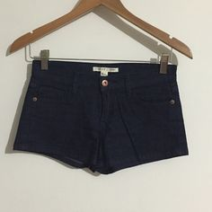 Dark Wash Jean Shorts Gently worn three times and in excellent condition.  (: Forever 21 Shorts Jean Shorts