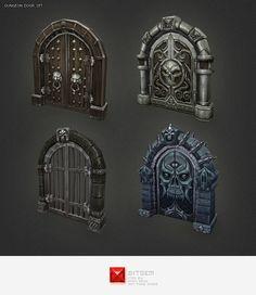 Low+Poly+Dungeon+Door+Set