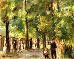 bofransson:  Grosse Seestrasse in Wannsee mit Spaziergangern Max Liebermann - circa 1924