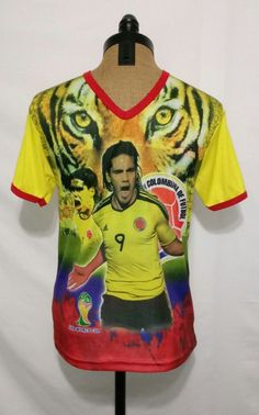 FIFA 2014 World Cup #9 Ramadel Falcao The Tiger Columbia Fan Jersey Shirt~Size S #Innova #Colombia