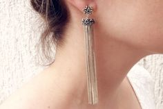 Brincos Pentagrama - #earrings #brincos #fringe #franjas #anapalacio #jewelry #joias