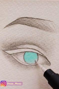 Drawing Tips Shadows Girl Drawing Sketches, Art Drawings Sketches Simple, Drawing Eyes, Pencil Art Drawings, Realistic Drawings, Doodle Drawings, Easy Drawings, Dragon Drawings, Trippy Drawings