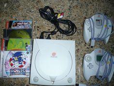 Sega Dreamcast Console (NTSC) Bundle w/2 controllers, 4 games and 1 VMU #Sega
