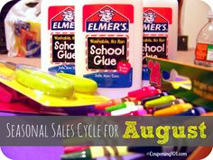 Seasonal Sales Cycle for August http://www.couponing101.com/seasonal-sales-cycle-for-august/