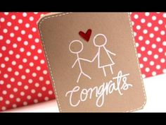 Make a Card Monday: This one is so simple but so cute. Makes me want to start embossing.