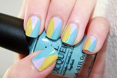 Nail Art- this design is also so cute! I really like the colors on this one too~